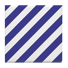 Nautical Stripes Tile Coaster