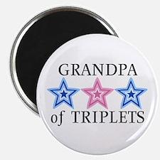 Grandpa of Triplets (Boys, Girl) Stars Magnet