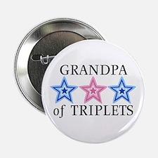 Grandpa of Triplets (Boys, Girl) Stars Button