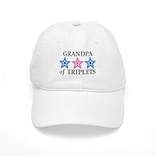 Grandpa of Triplets (Boys, Girl) Stars Baseball Cap