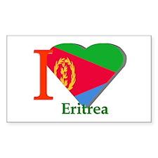 I love Eritrea Rectangle Decal