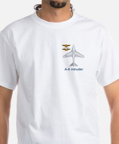 A-6 Intruder With Navy Wings White Shirt
