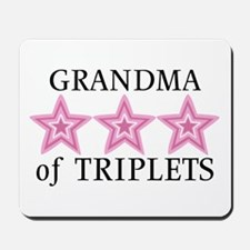 Grandma of Triplets (Girls) Stars Mousepad