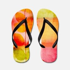 Pretty leaves Flip Flops