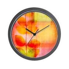 Pretty leaves Wall Clock