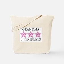 Grandma of Triplets (Girls) Stars Tote Bag