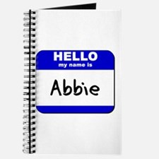 hello my name is abbie Journal