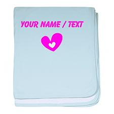 Custom Pink Heart baby blanket