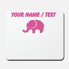 Custom Pink Elephant Mousepad
