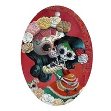 Mexican Skeletons - Mother with Daughter Ornament