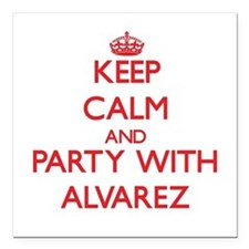 Keep calm and Party with Alvarez Square Car Magnet