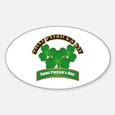 Saint Patrick's Day with text Sticker (Oval)