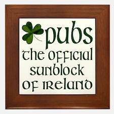 Irish Sunblock Framed Tile