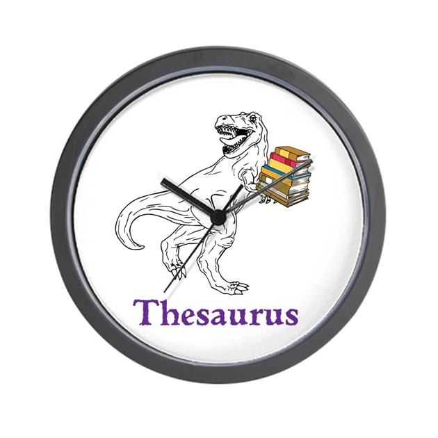 Thesaurus wall clock by vvictorydesigns for Decor thesaurus