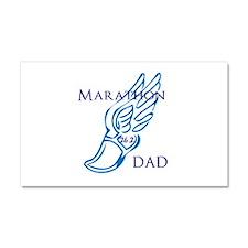 Marathon Dad Car Magnet 20 x 12