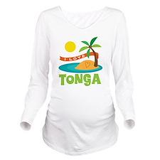 I Love Tonga Long Sleeve Maternity T-Shirt