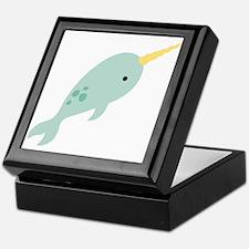 Narwhal Sea Whale Animal Keepsake Box