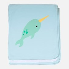 Narwhal Sea Whale Animal baby blanket