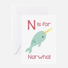 N Is For Narwhal Greeting Cards