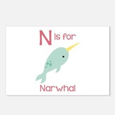 N Is For Narwhal Postcards (Package of 8)