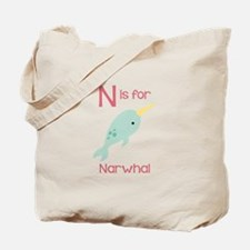 N Is For Narwhal Tote Bag