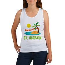 I Love St. Martin Women's Tank Top