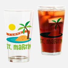 I Love St. Martin Drinking Glass