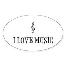 I Love Music Decal