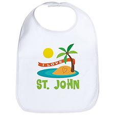 I Love St. John Bib