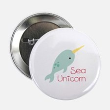 "Sea Unicorn 2.25"" Button"