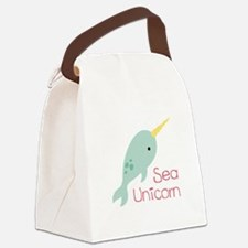 Sea Unicorn Canvas Lunch Bag