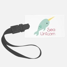 Sea Unicorn Luggage Tag