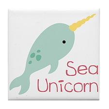 Sea Unicorn Tile Coaster