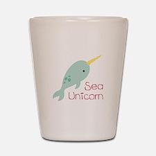 Sea Unicorn Shot Glass
