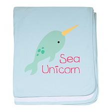 Sea Unicorn baby blanket