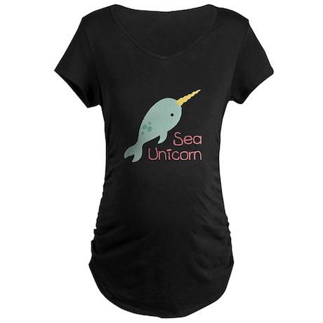 Sea Unicorn Maternity T-Shirt
