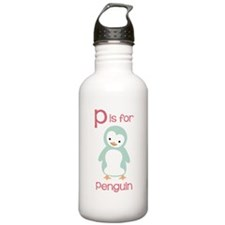 P Is For Penguin Water Bottle