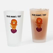Custom Valentines Day Lion Drinking Glass