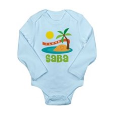 I Love Saba Long Sleeve Infant Bodysuit