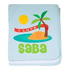 I Love Saba baby blanket