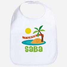 I Love Saba Bib