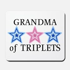 Grandma of Triplets (Boys, Girl) Stars Mousepad