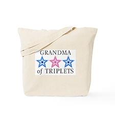 Grandma of Triplets (Boys, Girl) Stars Tote Bag