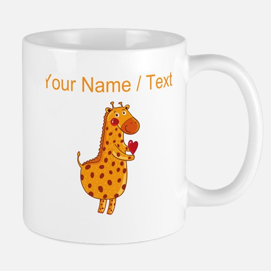 Custom Valentines Day Giraffe Mugs