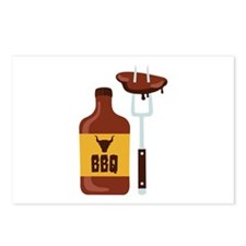 Barbeque Sauce Meat BBQ Postcards (Package of 8)