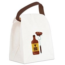 Barbeque Sauce Meat BBQ Canvas Lunch Bag