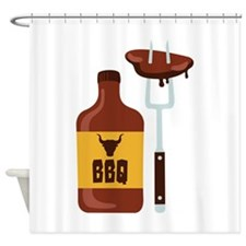 Barbeque Sauce Meat BBQ Shower Curtain