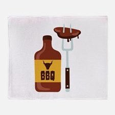 Barbeque Sauce Meat BBQ Throw Blanket