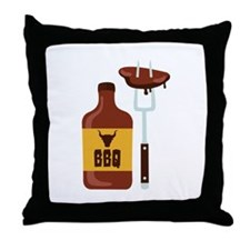 Barbeque Sauce Meat BBQ Throw Pillow