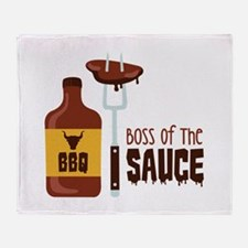 BOSS OF THE SAUCE Throw Blanket